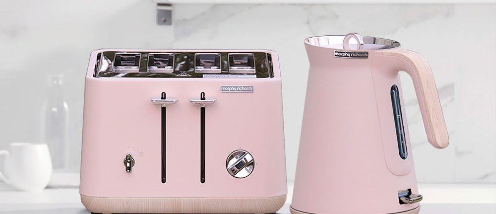 Morphy Richards Scandi Dusty Pink Aspect Kettle And