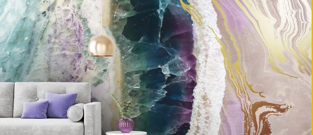 'Rock Pool Beach' Mural by Lara Skinner at Wallsauce.com