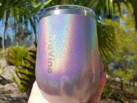 Stemless Insulated Tumbler - Glitter Iridescent - Ultra Violet