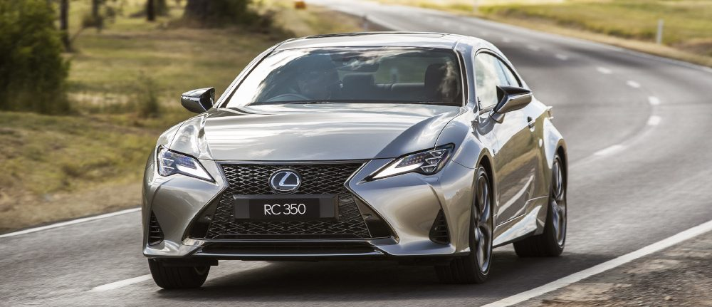 New Lexus RC luxury coupe (RC 350 F Sport shown)