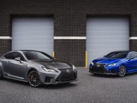 Lexus RC F Track Edition (grey) and updated RC F (overseas models shown)