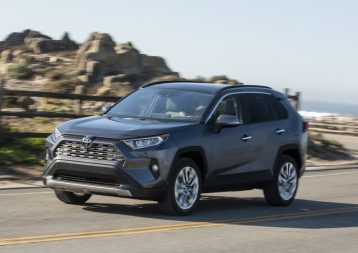 The all-new Toyota RAV4 will offer class-leading active safety features when it goes on sale in the second quarter of 2019 (overseas model shown)
