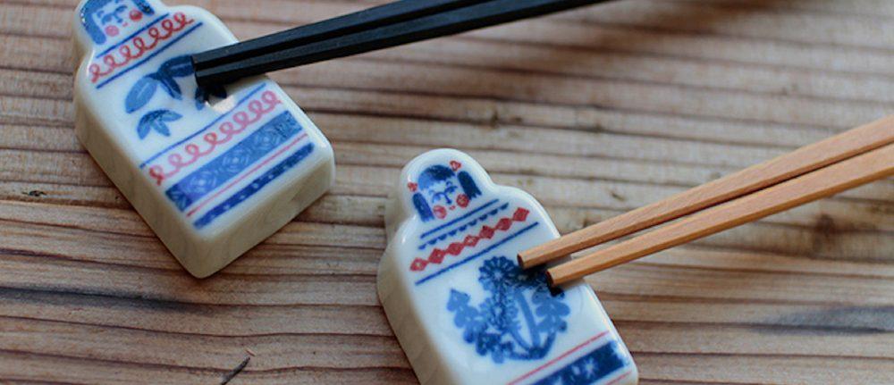 Kata Kata Ceramics - Kokeshi doll Chopstick rests