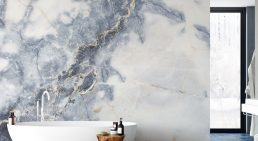 'White Marble' Mural Available at Wallsauce.com