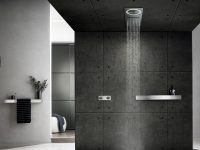 Tectonic by Rogerseller Shower and Extraction System Brushed Stainless Steel