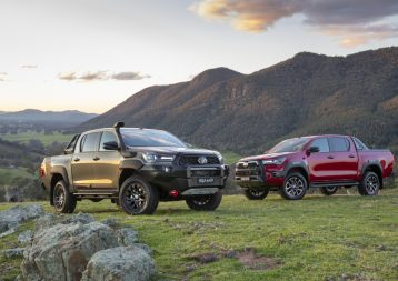 2020 Toyota HiLux Rugged X (l) and HiLux Rogue (r).